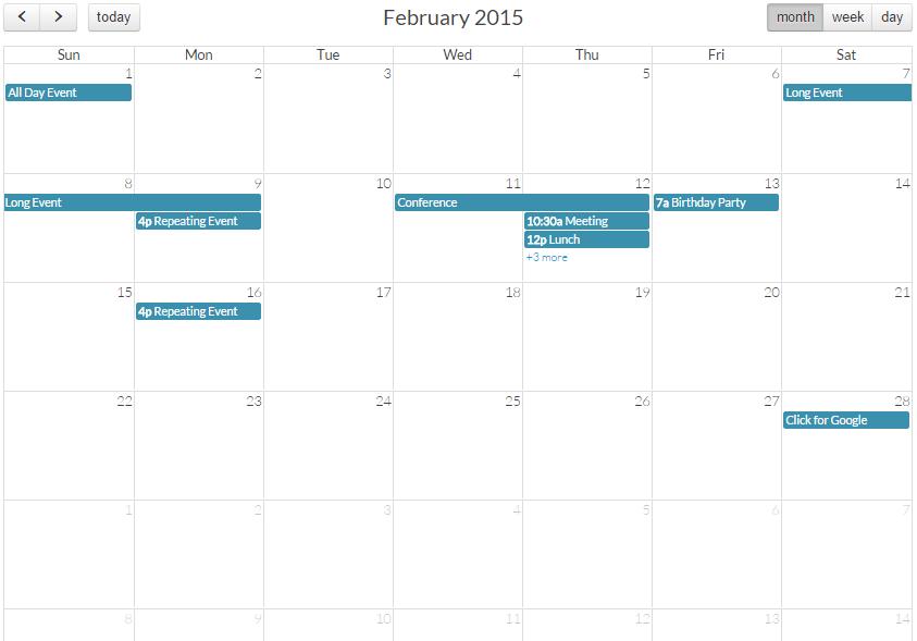 Crear calendario con jQuery