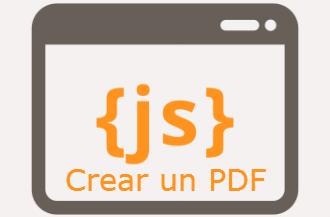 Crear un PDF en Java Script