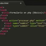 Crear un formulario en php (Básico)