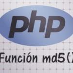 Encriptar en MD5 con PHP