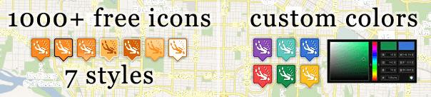 Iconos para Google Maps