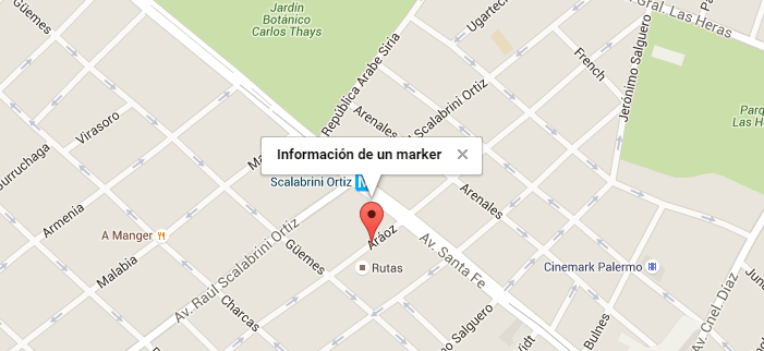 Información de un marker en Google Maps